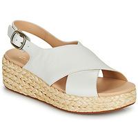 Schoenen Dames Sandalen / Open schoenen Clarks KIMMEI CROSS Wit
