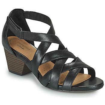 Schoenen Dames Sandalen / Open schoenen Clarks LORENE POP Zwart