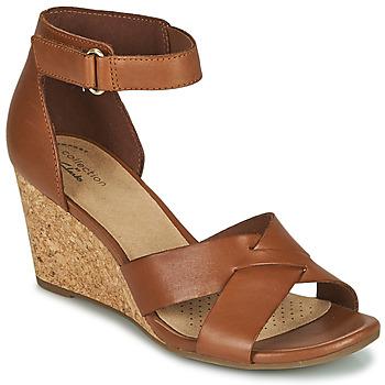 Schoenen Dames Sandalen / Open schoenen Clarks MARGEE GRACIE Bruin