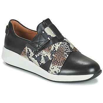 Schoenen Dames Lage sneakers Clarks UN RIO STRAP Zwart