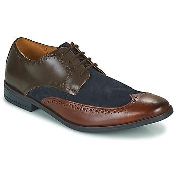 Schoenen Heren Derby Clarks STANFORD LIMIT Bruin / Blauw