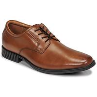 Schoenen Heren Derby Clarks TILDEN PLAIN Bruin