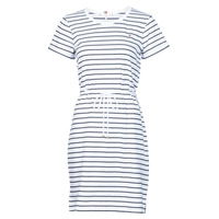 Textiel Dames Korte jurken Tommy Hilfiger TH COOL STP SHIFT SHORT DRESS SS Wit / Marine