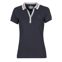 Textiel Dames Polo's korte mouwen Tommy Hilfiger SLIM TIPPING POLO SS Marine