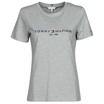 Textiel Dames T-shirts korte mouwen Tommy Hilfiger TH ESS HILFIGER C-NK REG TEE SS Grijs