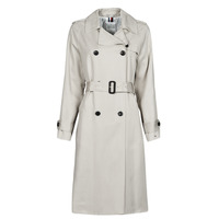 Textiel Dames Trenchcoats Tommy Hilfiger DB LYOCELL FLUID TRENCH Beige
