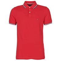 Textiel Heren Polo's korte mouwen Tommy Hilfiger TOMMY TIPPED SLIM POLO Rood