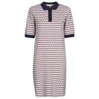 Textiel Dames Korte jurken Tommy Hilfiger TH CUBE SHIFT SHORT DRESS SS Wit / Rood / Marine