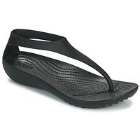 Schoenen Dames Teenslippers Crocs CROCS SERENA FLIP W Zwart
