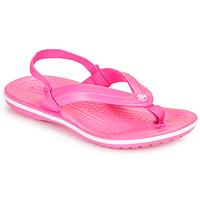Schoenen Meisjes Teenslippers Crocs CROCBAND STRAP FLIP K Roze