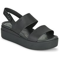 Schoenen Dames Sandalen / Open schoenen Crocs CROCS BROOKLYN LOW WEDGE W Zwart