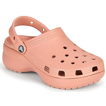 Schoenen Dames Klompen Crocs CLASSIC PLATFORM CLOG W Roze