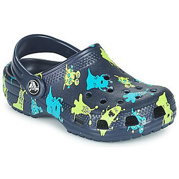 Schoenen Jongens Klompen Crocs CLASSIC MONSTER PRINT CLOG T Blauw