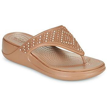 Schoenen Dames Teenslippers Crocs CROCS MONTEREY SHIMMER WGFPW Brons