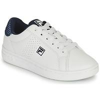 Schoenen Jongens Lage sneakers Fila CROSSCOURT 2 NT KIDS Wit / Blauw