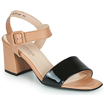 Schoenen Dames Sandalen / Open schoenen Peter Kaiser PEORIA Nude / Zwart