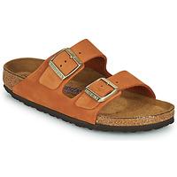 Schoenen Dames Leren slippers Birkenstock ARIZONA SFB Oranje