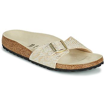 Schoenen Dames Leren slippers Birkenstock MADRID Goud
