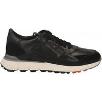 Schoenen Heren Lage sneakers Santoni FRANC. 7 FORI PELLE WYATT nero