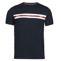 Textiel Heren T-shirts korte mouwen Tommy Hilfiger CN SS TEE LOGO Marine