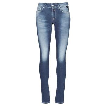Textiel Dames Skinny Jeans Replay HYPERFLEX LUZ Blauw