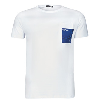 Textiel Heren T-shirts korte mouwen Replay M3396-2660 Wit / Blauw
