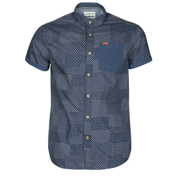 Textiel Heren Overhemden korte mouwen Deeluxe ETHNIC Marine