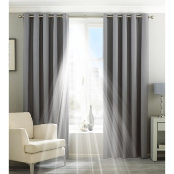 Wonen Gordijnen, jaloezieën Riva Home Taille 7: 229 x 183cm Zilver