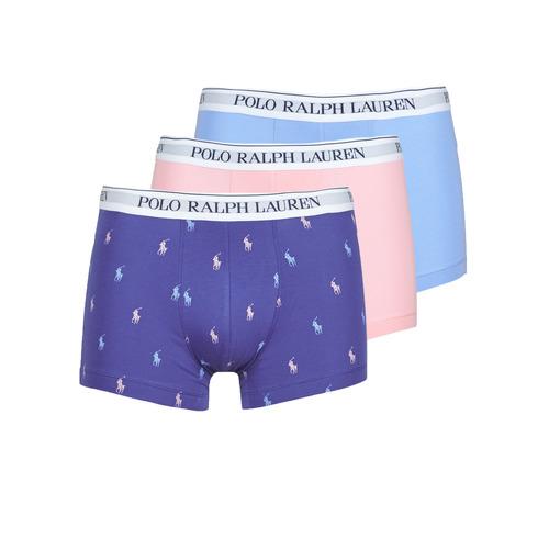 Ondergoed Heren Boxershorts Polo Ralph Lauren CLASSIC TRUNK X3 Roze / Blauw / Marine