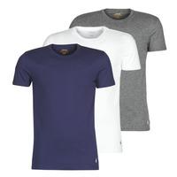 Textiel Heren T-shirts korte mouwen Polo Ralph Lauren SS CREW NECK X3 Marine / Grijs / Wit