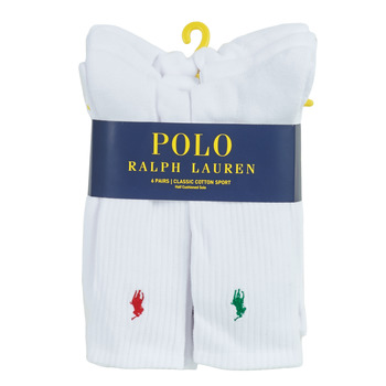Accessoires Heren Sokken Polo Ralph Lauren ASX110 6 PACK COTTON Wit