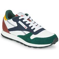 Schoenen Kinderen Lage sneakers Reebok Classic CL LTHR Wit / Groen / Blauw