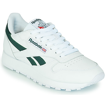 Schoenen Lage sneakers Reebok Classic CL LTHR Wit / Groen