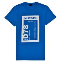Textiel Jongens T-shirts korte mouwen Diesel TFULL78 Blauw