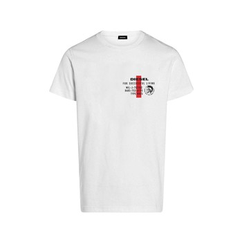 Textiel Jongens T-shirts korte mouwen Diesel TDIEGOS Wit
