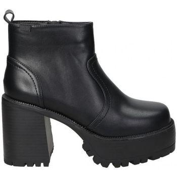 Schoenen Dames Enkellaarzen Emmshu BOTINES  BRAT MODA JOVEN BLACK Noir
