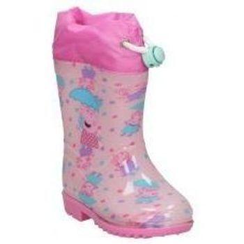 Schoenen Meisjes Regenlaarzen Cerda BOTAS DE AGUA  4449 PEPA PIG  NIÑA ROSA Rose