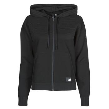 Textiel Dames Sweaters / Sweatshirts adidas Performance W Knit V Hoodie Zwart