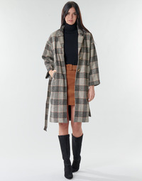 Textiel Dames Mantel jassen Betty London NIOULOOK Zwart / Beige