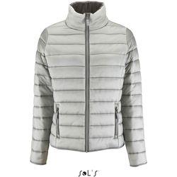 Textiel Dames Dons gevoerde jassen Sol's Doudoune femme  Ride gris métallique
