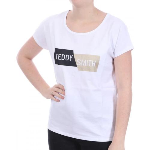 Textiel Dames T-shirts korte mouwen Teddy Smith  Wit