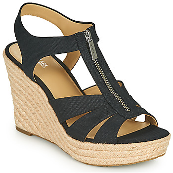 Schoenen Dames Sandalen / Open schoenen MICHAEL Michael Kors BERKLEY WEDGE Zwart