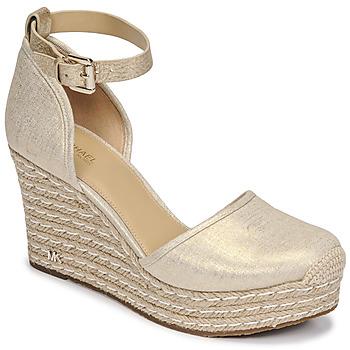 Schoenen Dames Sandalen / Open schoenen MICHAEL Michael Kors KENDRICK WEDGE Goud