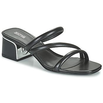 Schoenen Dames Leren slippers MICHAEL Michael Kors LANA MULE Zwart