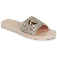 Schoenen Dames slippers MICHAEL Michael Kors MK SLIDE Roze / Nude / Goud
