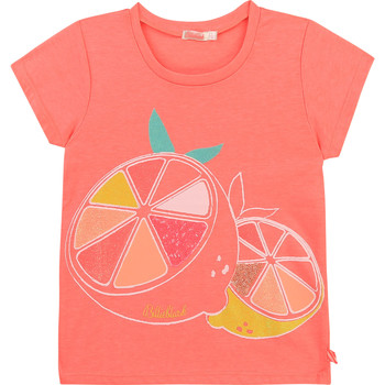 Textiel Meisjes T-shirts korte mouwen Billieblush / Billybandit U15864-499 Roze