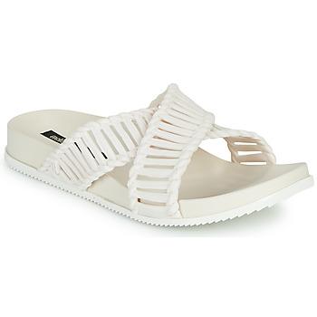 Schoenen Dames Leren slippers Melissa COSMIC II & SALINAS Wit