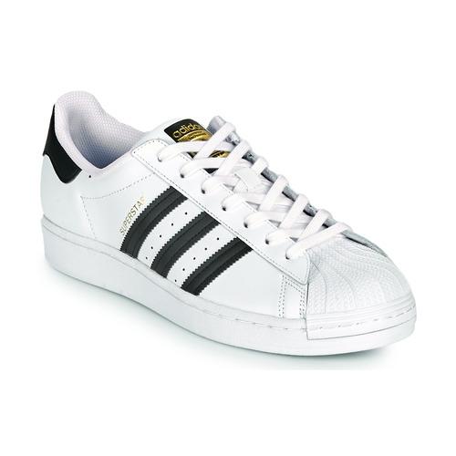 Schoenen Lage sneakers adidas Originals SUPERSTAR Wit / Zwart