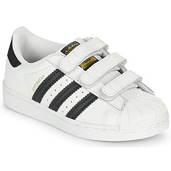 Schoenen Kinderen Lage sneakers adidas Originals SUPERSTAR CF C Wit / Zwart