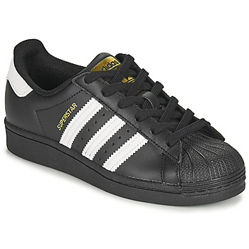 Schoenen Kinderen Lage sneakers adidas Originals SUPERSTAR J Zwart / Wit